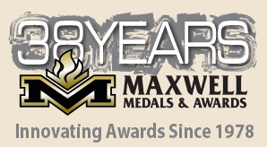 38 Years Maxwell Medals & Awards Logo