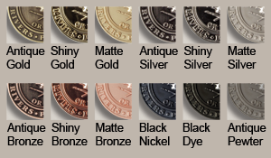 die cast medals finishes chart